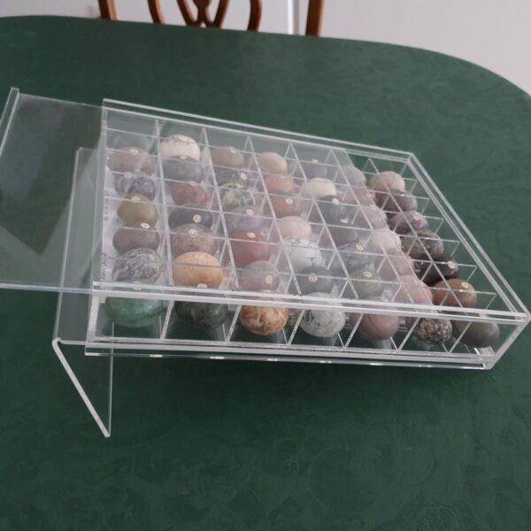 Caixa acrílico para exposição de pedras 1